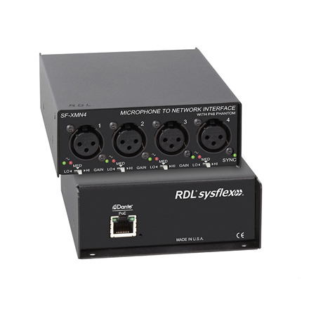 RDL SF-XMN4 Microphone To Network Interface