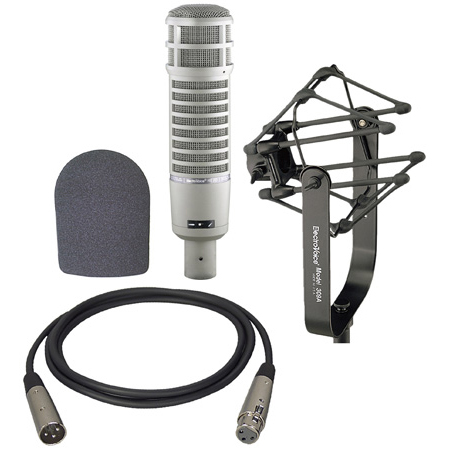 Electro-Voice RE20 Broadcaster Microphone Kit w/ 309A Suspension Mount/Foam Windscreen/15ft XLR Cable