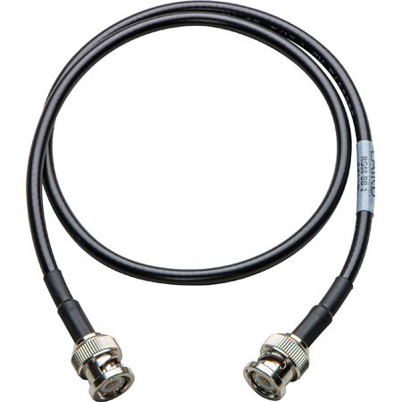 Laird RG58-BB-2 RG58 50 Ohm BNC Male to Male Antenna Cable - 2 Foot