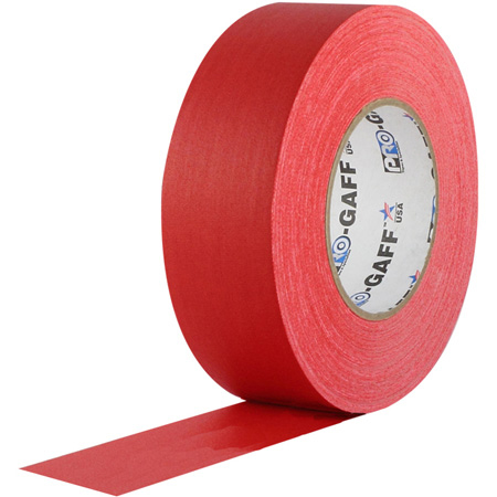 Pro Tapes 001UPCG155MRED Pro Gaff Gaffers Tape RGT1-60 1 Inch x 55 Yards - Red