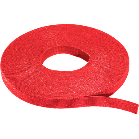 Rip-Tie W-75-1RL 1/2 Inch WrapStrap - Red - 75 Foot