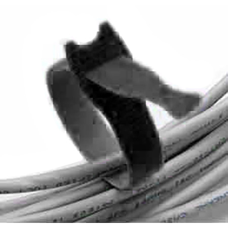 Rip-Tie Y-06-120-BK 1/2 Inch x 6 Inch Lite Black - Spool of 1200