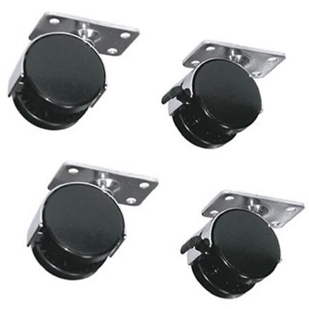 Middle Atlantic RKW 4-Wheel Kit (2 Locking) For RK/BRK Series Racks