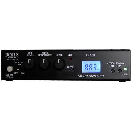 Rolls HR70 FM Digital Transmitter with RCA and XLR Input