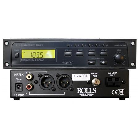 Rolls HR78X Digital 1/2 Rack AM/FM Tuner With XLR Outputs