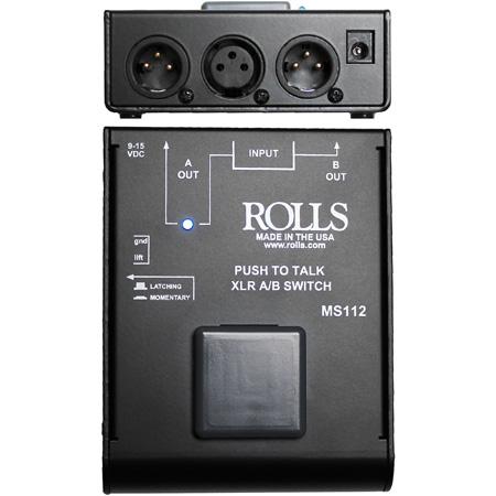 Rolls MS112 Push to Talk XLR A-B Switch