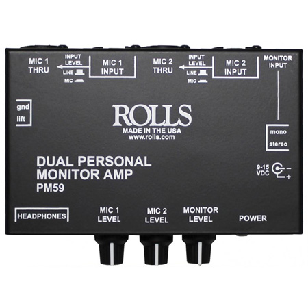 Rolls PM59 Dual Personal Monitor Amp