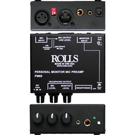 Rolls PM60 Personal Monitor Microphone Preamp