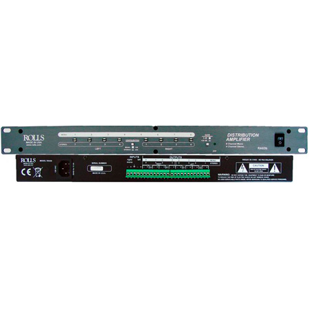 Rolls RA63b 8-Channel Mono 4 Channel Stereo Distribution Amplifier