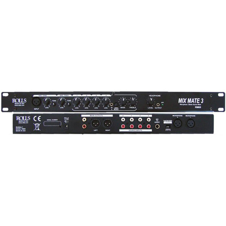 Rolls RM69 MixMate 3 - 6 Channel/1RU Electronic Audio Mixer