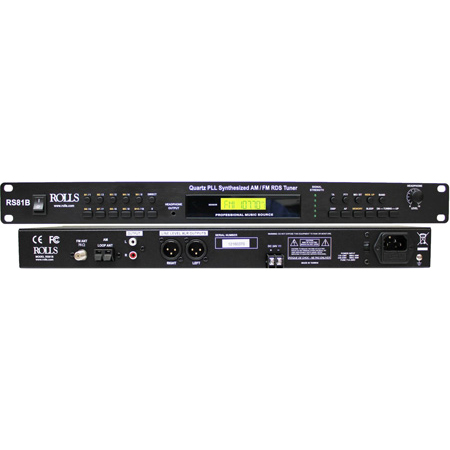 Rolls RS81B Quartz PLL Synthesized AM/FM Tuner -  included Remote with Li-Ion Battery