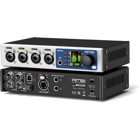 RME AVB TOOL Half-Rack MADI-AVB Interface with Outstanding Analog Connectivity