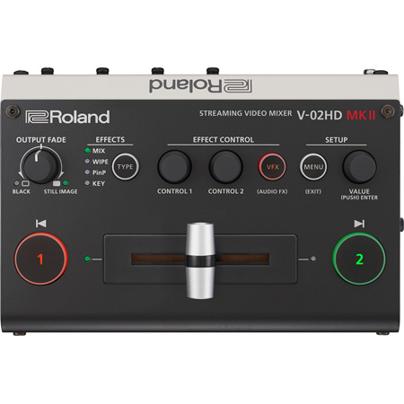 Roland V-02HD MK II Multi-Format Two Camera Streaming Video Mixer with HDMI and USB Type-C