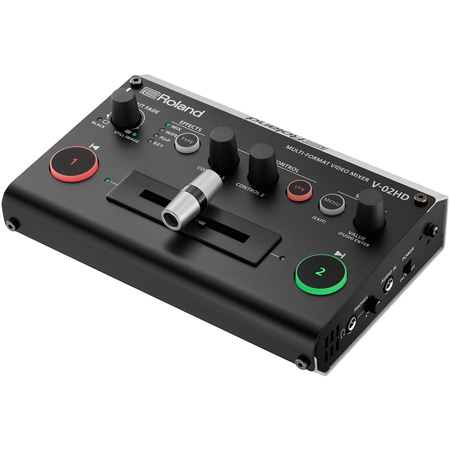 Roland V-02HD 2 Input Multi-Format HDMI Live Production Video Switcher & Video Mixer