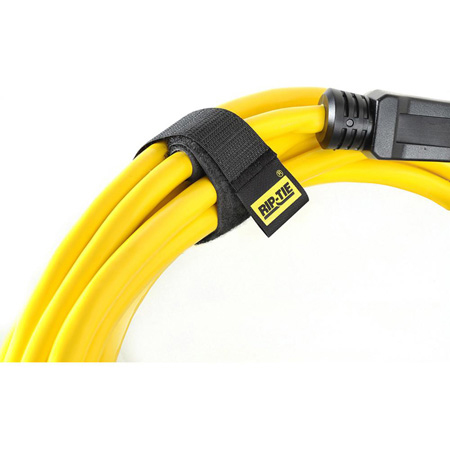 Rip-Tie CableWrap 1x9 Black 10 Pack