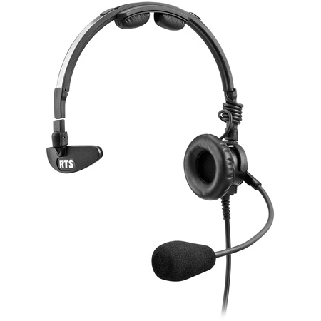 RTS LH-300 Single-Sided Headset Dynamic Mic - XLR 4-Pin Female Connector