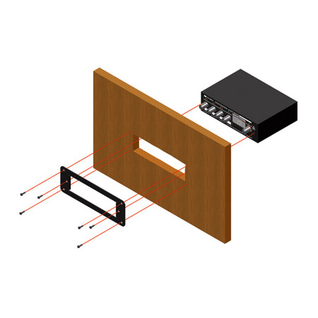 RDL RU-SMA1 Rack-Up Mounting Plate - Mounts any Rack-Up Module in a Cabinet
