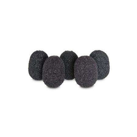 Rycote 105501 Lavalier Mic Foam. Black (5 Pack)