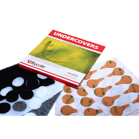 Rycote 65103 Undercovers - 30 Fabric Covers with Stickies - White