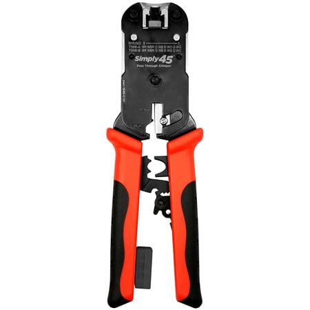 Simply45 S45-C101 ProSeries Heavy Duty RJ45 Crimp Tool  for all S45 brand UTP & STP RJ45 Modular Plugs - 1Ea/Bliste