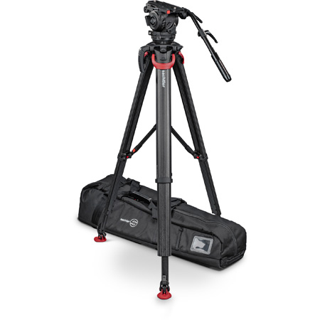 Sachtler System Cine 7+7 Fluid Head (1910) + Tripod Flowtech 100 MS with Mid-Level Spreader and Rubber Feet