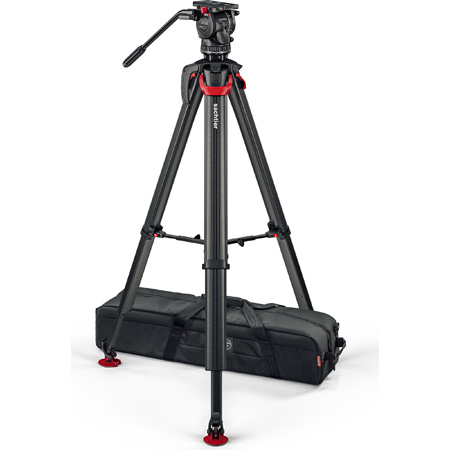 Sachtler S2068T-FTMS System aktiv8T Touch&Go with Flowtech 75 Tripod / Mid-level Spreader / Carry Handle and Bag