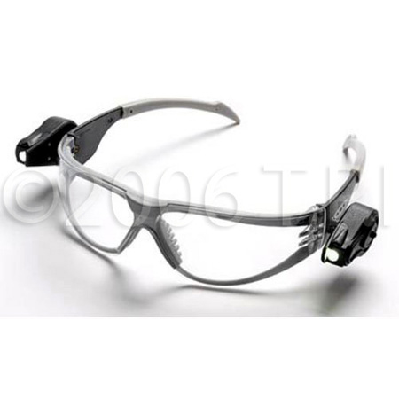 Light Vision Safety Clear Glasses w/Built In Ultra-Bright LED Lighting