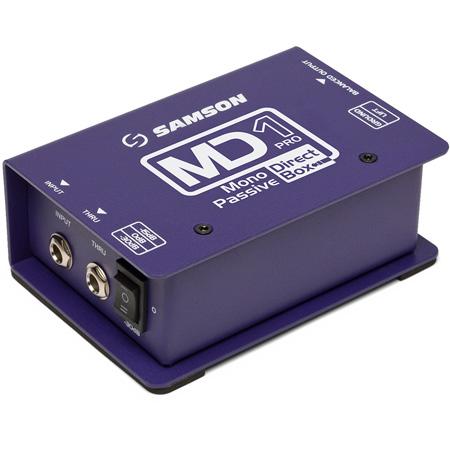 Samson MD1 Pro Professional Mono Passive Direct Box (Shielded Transformer)