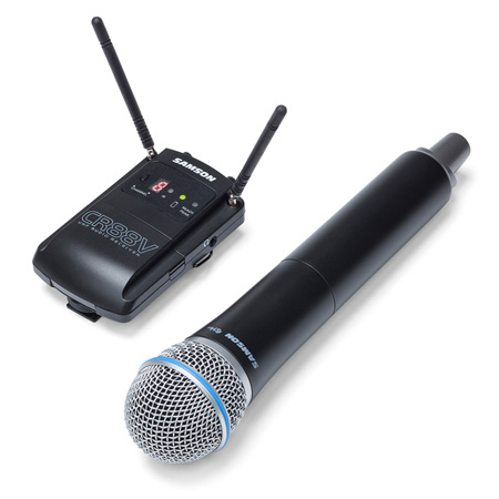 Samson SWC88VHQ8-D Concert 88 Camera UHF Wireless System - Handheld Q8 (D Channel) - Li-ion Battery Included