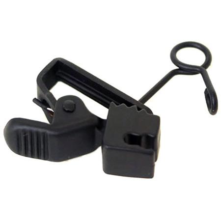 Sanken SAN-HC11VBK Black Clip Single/Vertical for COS-11D Microphone - 10 Pack