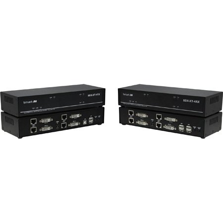 Smart-AVI SDX-XT-4P-S 4K Quad Head DVI-D - USB 2.0 - Audio - CAT5 / 5e / 6 Extender