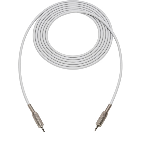 Sescom SC1.5MMWE Audio Cable Canare Star-Quad 3.5mm TS Mono Male to 3.5mm TS Mono Male White - 1.5 Foot