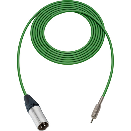 Sescom SC1.5XMZGN Audio Cable Canare Star-Quad 3-Pin XLR Male to 3.5mm TRS Balanced Male Green - 1.5 Foot