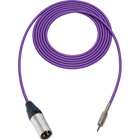 Sescom SC1.5XMZPE Audio Cable Canare Star-Quad 3-Pin XLR Male to 3.5mm TRS Balanced Male Purple - 1.5 Foot