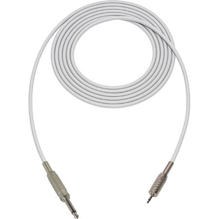 Sescom SC3SMWE Audio Cable Canare Star-Quad 1/4 TS Mono Male to 3.5mm TS Mono Male White - 3 Foot