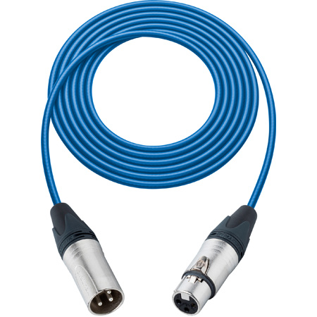 Sescom SC3XXJBE Mic Cable Canare Star-Quad 3-Pin XLR Male to 3-Pin XLR Female Blue - 3 Foot