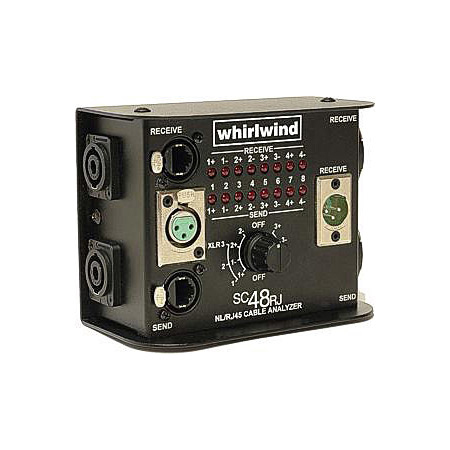 Whirwind Cable Tester - 4 Pole & 8 Pole SpeakON EtherCON  XLR & RJ45