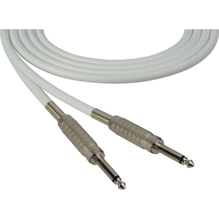 Sescom SC6SSWE Audio Cable Canare Star-Quad 1/4 TS Mono Male to 1/4 TS Mono Male White - 6 Foot
