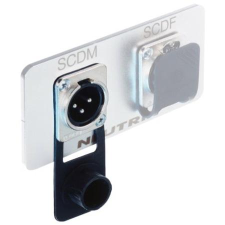 Neutrik SCDM Black D-Series Cover for Male XLR Connectors