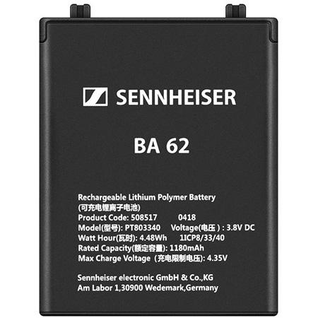 Sennheiser BA 62 Rechargeable Battery Pack for SK 6212 Bodypack Wireless Transmitter