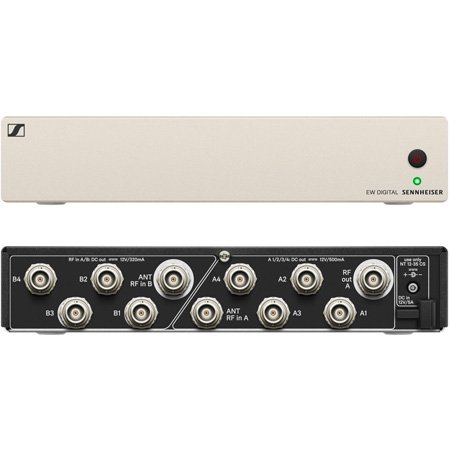 Sennheiser EW-D ASA Active Antenna Splitter (Dual 1 / 4) w /  DC Power Distribution for EW-D Receivers (470 - 694 MHz)