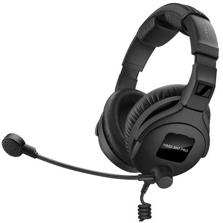 Sennheiser HMD 300 PRO Broadcast Headset Ultra-Linear Headphone Response (Dual Sided 64 ohm) & Dynamic Hypercardioid Mic