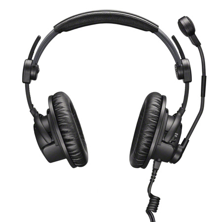 Sennheiser HMDC 27 Closed Circumaural Professional Broadcast Headset with Active Noise Reduction 1/4 Inch & 3 Pin  XLR