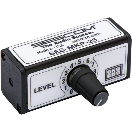 Sescom SES-MKP-25 Professional Stereo RCA Volume Control Anytime for Any Line Level Device