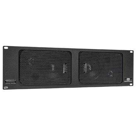 Sescom SES-RM-SPEAKERS Indoor-Outdoor Rack Mount Stereo Speaker System 3RU