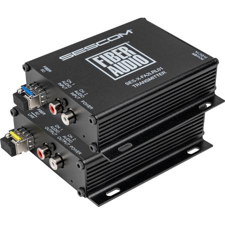 Sescom X-FA2LRL01 2-Channel RCA Audio Over Fiber Extender Tx/Rx Transceiver Set - LC Connectors