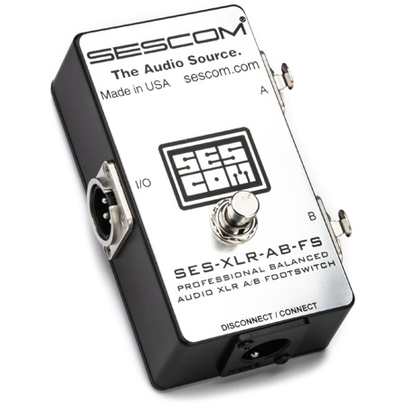 Sescom SES-XLR-AB-FS A/B Passive Foot Switch Balanced XLR with Disconnect/Mute