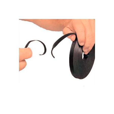 SoftCinch 3105-1440 Black 5 Inch Hook & Loop PolyTie -1440 pcs on Bulk Roll