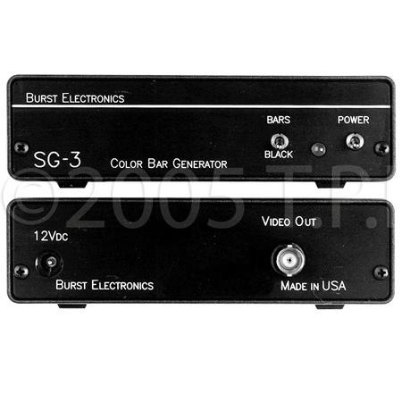 Burst SG-3 SMPTE Video Color Bar & Black Burst Generator
