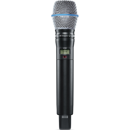 Shure ADX2/B87A Axient Digital Handheld Transmitter w/ BETA 87A Capsule & ShowLink - G57 (470 - 616MHz)